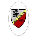 USS Taylor (DD 468) Oval Sticker (10 pk)