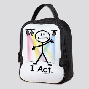 Actor Stick Figure Neoprene Lunch Bag