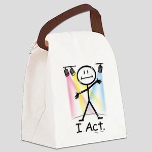 Actor Stick Figure Canvas Lunch Bag