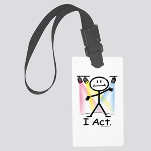 Actor Stick Figure Large Luggage Tag
