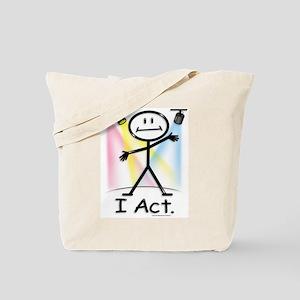 Actor Stick Figure Tote Bag