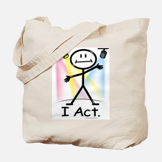 Actor Stick Figure Tote Bag