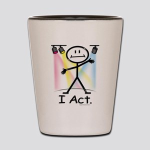 Actor Stick Figure Shot Glass