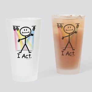 Actor Stick Figure Drinking Glass