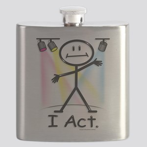 Actor Stick Figure Flask