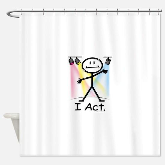 Actor Stick Figure Shower Curtain