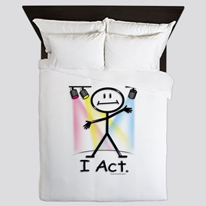 Actor Stick Figure Queen Duvet