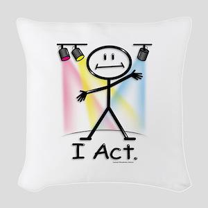 Actor Stick Figure Woven Throw Pillow