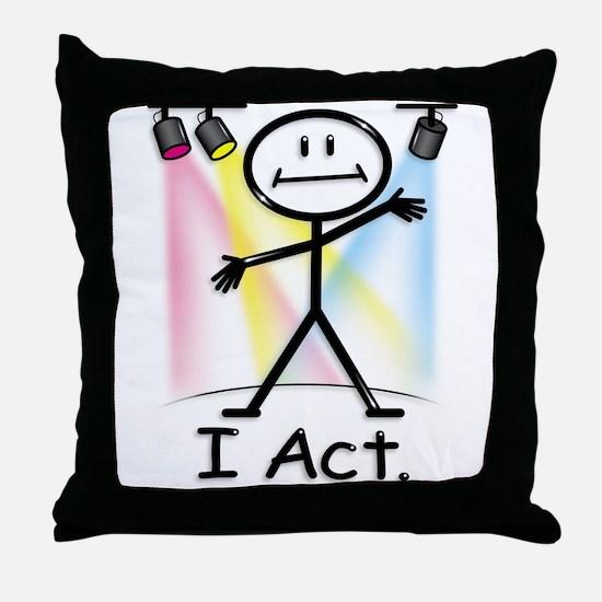 Actor Stick Figure Throw Pillow