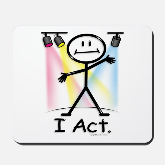 Actor Stick Figure Mousepad
