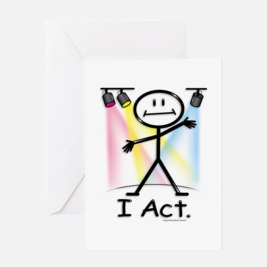 Actor Stick Figure Greeting Card