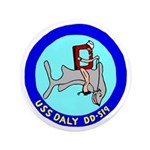 """USS Daly (DD 519) 3.5"""" Button (100 pack)"""