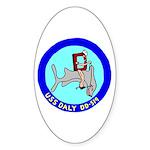 USS Daly (DD 519) Oval Sticker (10 pk)