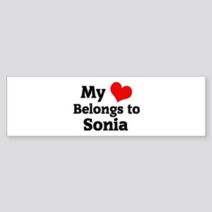 My Heart: Sonia Bumper Sticker