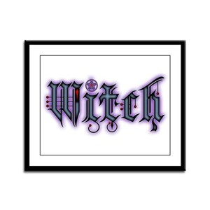 Witch Framed Panel Print