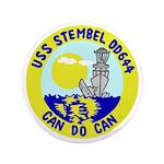 """USS Stembel (DD 644) 3.5"""" Button"""