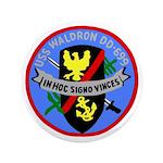 """USS Waldron (DD 699) 3.5"""" Button"""