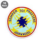 """USS John W. Weeks (DD 701) 3.5"""" Button (10 pack)"""