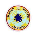"""USS John W. Weeks (DD 701) 3.5"""" Button"""