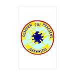 USS John W. Weeks (DD 701) Rectangle Sticker 50 p