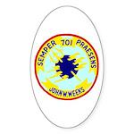USS John W. Weeks (DD 701) Oval Sticker (50 pk)