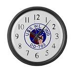 USS W. L. Lind (DD 703) Large Wall Clock