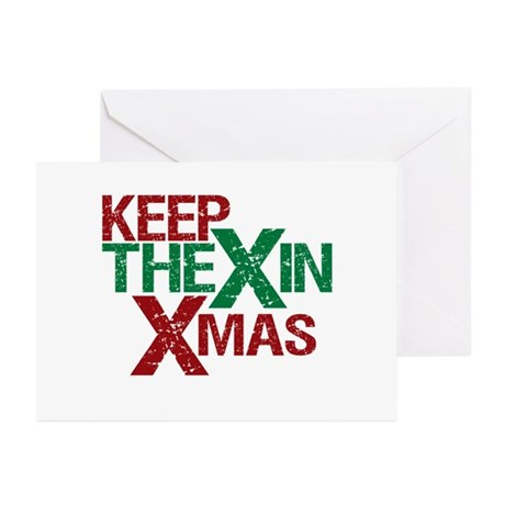 Keep the X in Xmas Greeting Cards (Pk of 20)