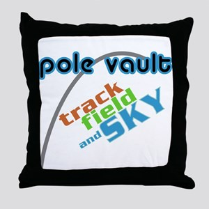 Pole Vault Sky Throw Pillow