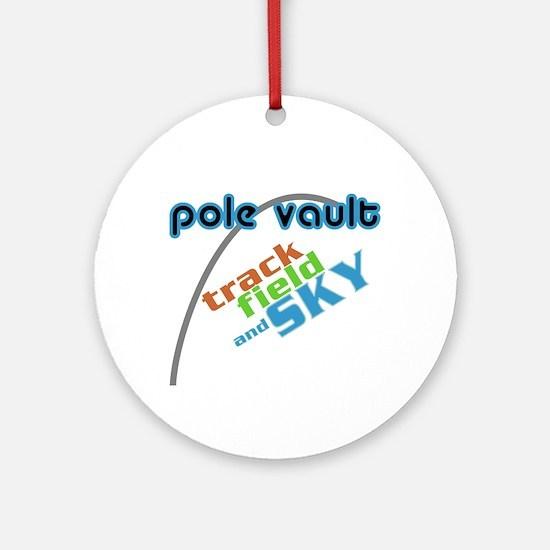 Pole Vault Sky Ornament (Round)