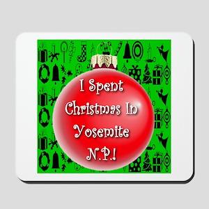Christmas In Yosemite Mousepad