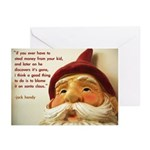 'blame santa claus' christmas cards (10 pack)