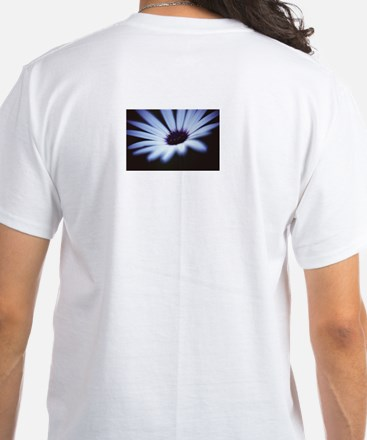 Petals on back of a White T-Shirt
