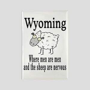 Wyoming Sheep Rectangle Magnet