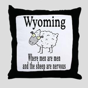 Wyoming Sheep Throw Pillow