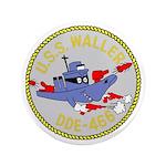 """USS Waller (DDE 466) 3.5"""" Button (100 pack)"""