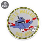"""USS Waller (DDE 466) 3.5"""" Button (10 pack)"""