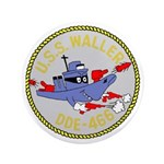 """USS Waller (DDE 466) 3.5"""" Button"""