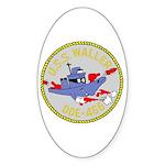 USS Waller (DDE 466) Oval Sticker (10 pk)