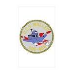 USS Waller (DDE 466) Rectangle Sticker 10 pk)