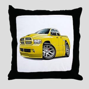SRT10 Dual Cab Yellow Truck Throw Pillow