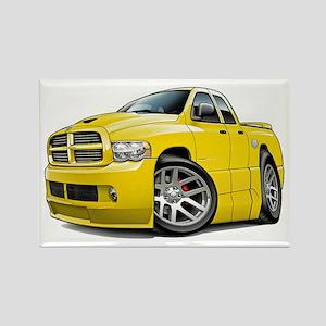 SRT10 Dual Cab Yellow Truck Rectangle Magnet