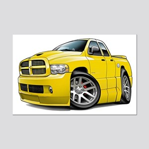 SRT10 Dual Cab Yellow Truck Mini Poster Print