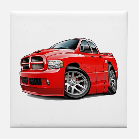SRT10 Dual Cab Red Truck Tile Coaster