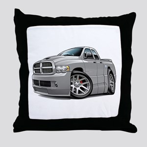 SRT10 Dual Cab Grey Truck Throw Pillow