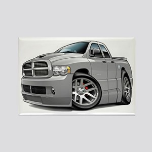 SRT10 Dual Cab Grey Truck Rectangle Magnet