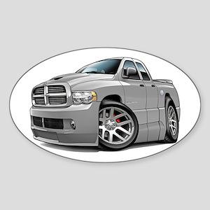 SRT10 Dual Cab Grey Truck Oval Sticker