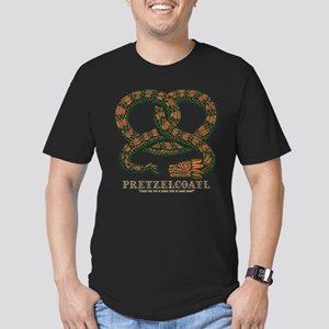 Pretzelcoatl -col Men's Fitted T-Shirt (dark)