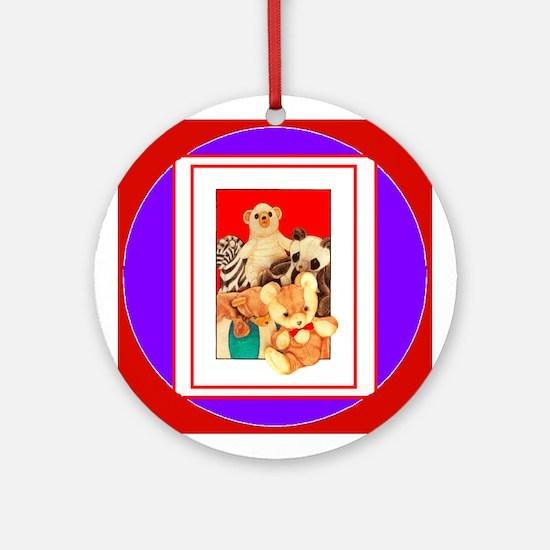 Teddy Bear Menagerie (Round)