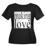7001. making love Women's Plus Size Scoop Neck Dar