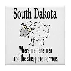 South Dakota Sheep Tile Coaster